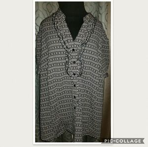 East 5th Dressy Blouse Sz 3X
